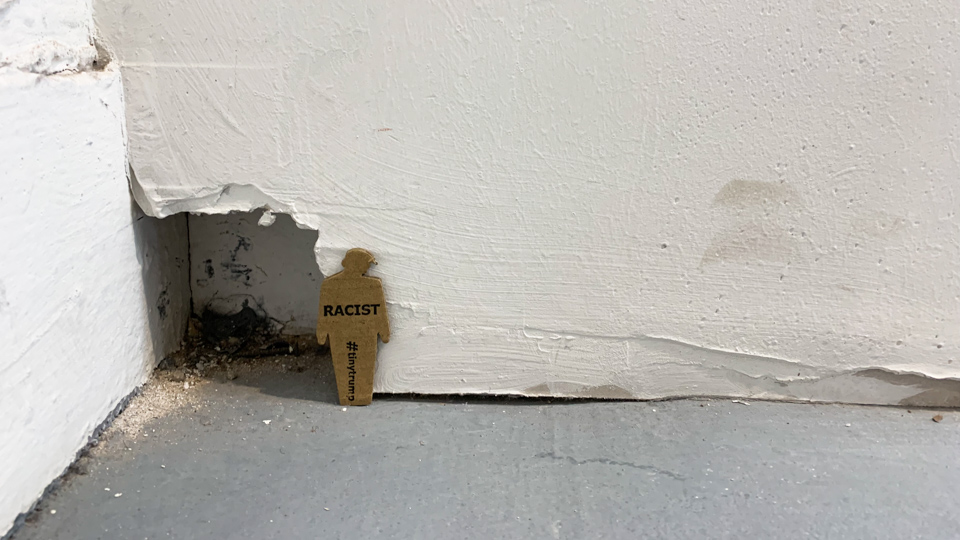 'Racist' tiny trump at the Venice Biennale (detail)